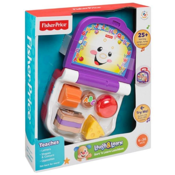 Fisher-Price Laugh & Learn Sort 'n' Learn Lunchbox Toy Age 6-36 months  BGB39